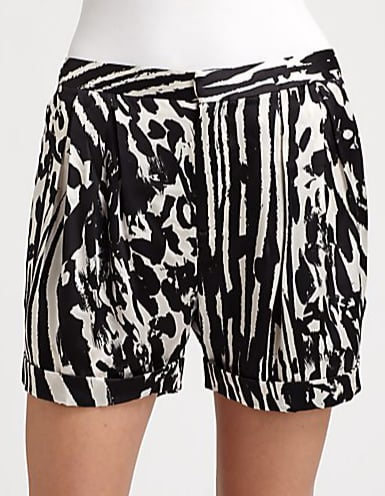 By Malene Birger's black-and-white silk shorts ($275) feature a chic abstract print and lovely soft pleats.