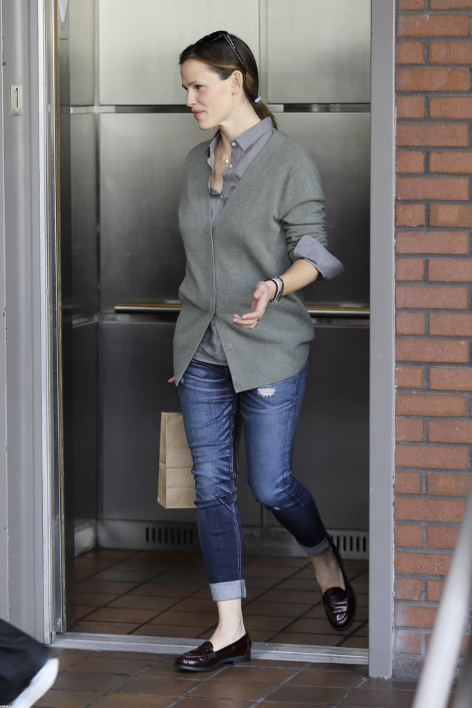 Jennifer Garner had a smile on her face as she headed to Seraphina's birthday party.