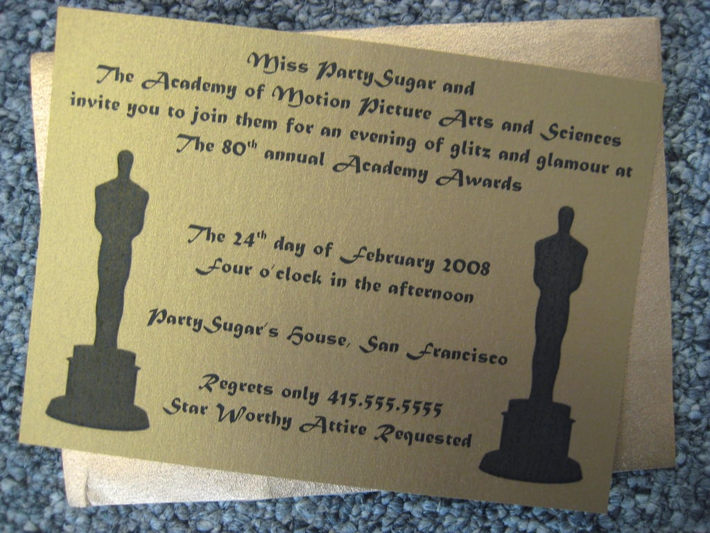 Come Party With Me: Oscars Viewing — Invite