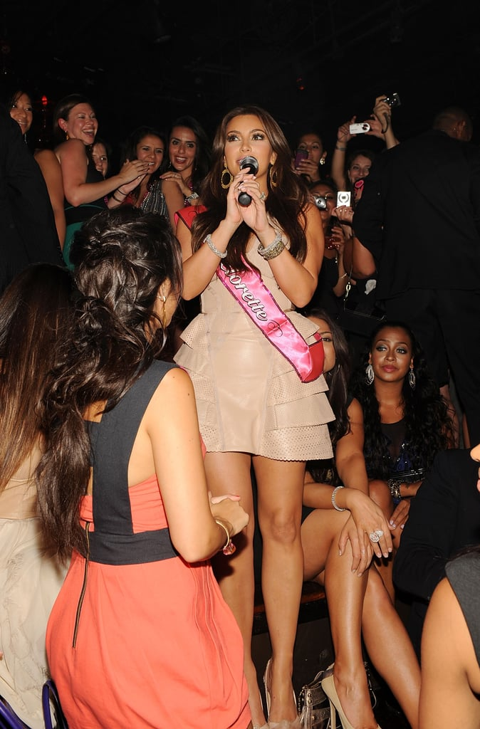 Kim Kardashian thanked her friends and the club for throwing the party.
