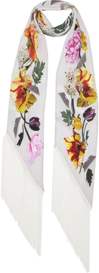 Rockins Flora Printed Silk Scarf ($290)