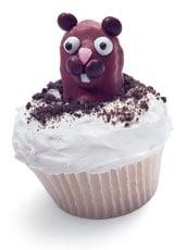 Cute Groundhog Cupcakes