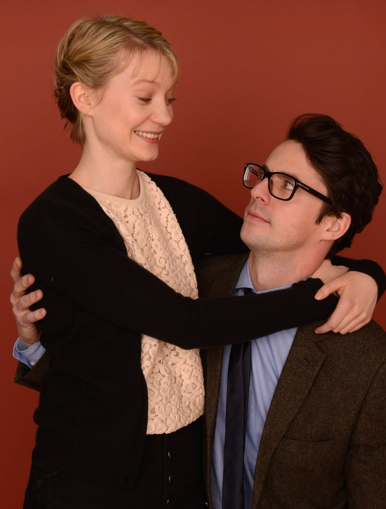 Stoker's Mia Wasikowska and Matthew Goode shared a deep stare at the film festival.