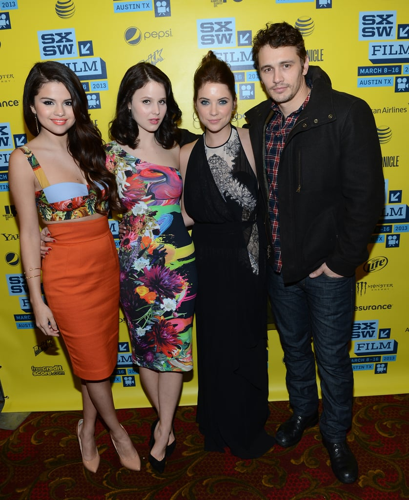 Selena Gomez, Rachel Korine, Ashley Benson and James Franco hit the red carpet together for the SXSW premiere of Spring Breakers.