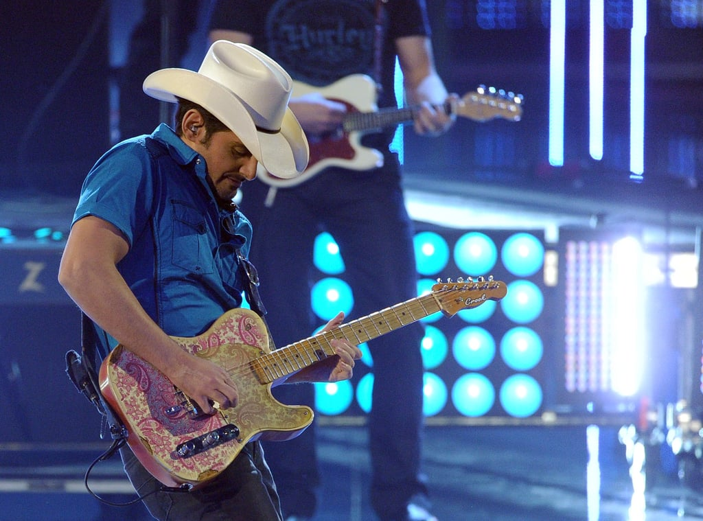 Brad Paisley performed at the show on Wednesday.