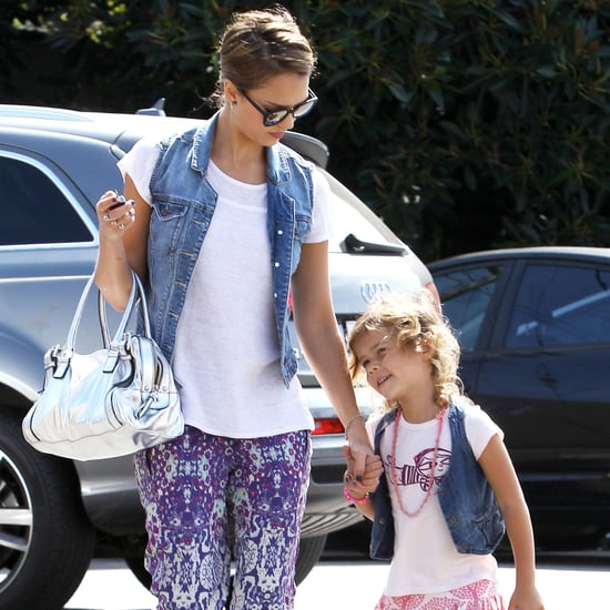 Jessica Alba and Honor in Printed Pants | Pictures