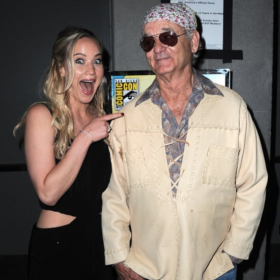 Jennifer Lawrence Has Zero Chill While Running Into Bill Murray at Comic-Con