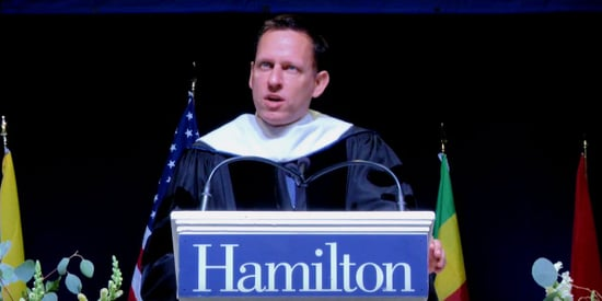 PayPal cofounder Peter Thiel warns new grads of the hidden dangers of sticking to a career path