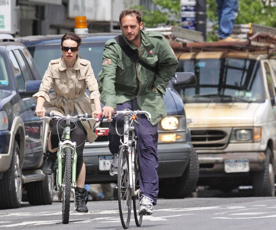 Photo of Rachel McAdams and Josh Lucas Riding Bikes in NYC