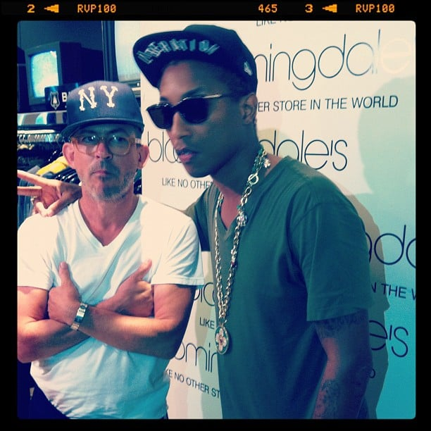 Pharrell Williams partied with shoppers at Bloomingdale's for FNO in NYC. Source: Instagram user bloomingdales