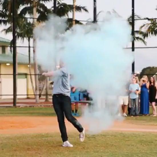 Freddie Freeman Baseball Gender Reveal Video