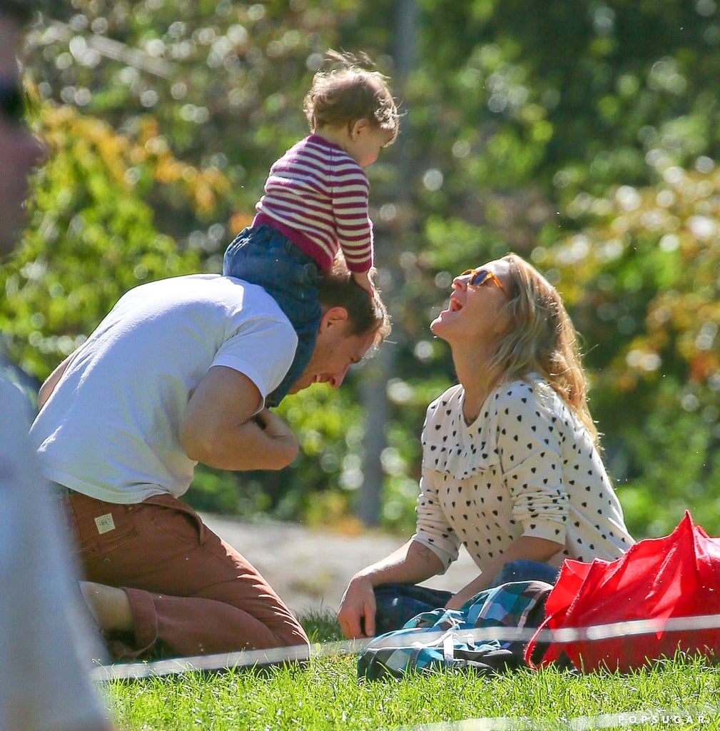 Drew Barrymore spent a sweet day in Central Park with her husband, Will Kopelman, and their 1-year-old daughter, Olive.