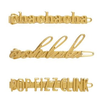 Kate Spade's Cute, Funny Holiday Barrettes