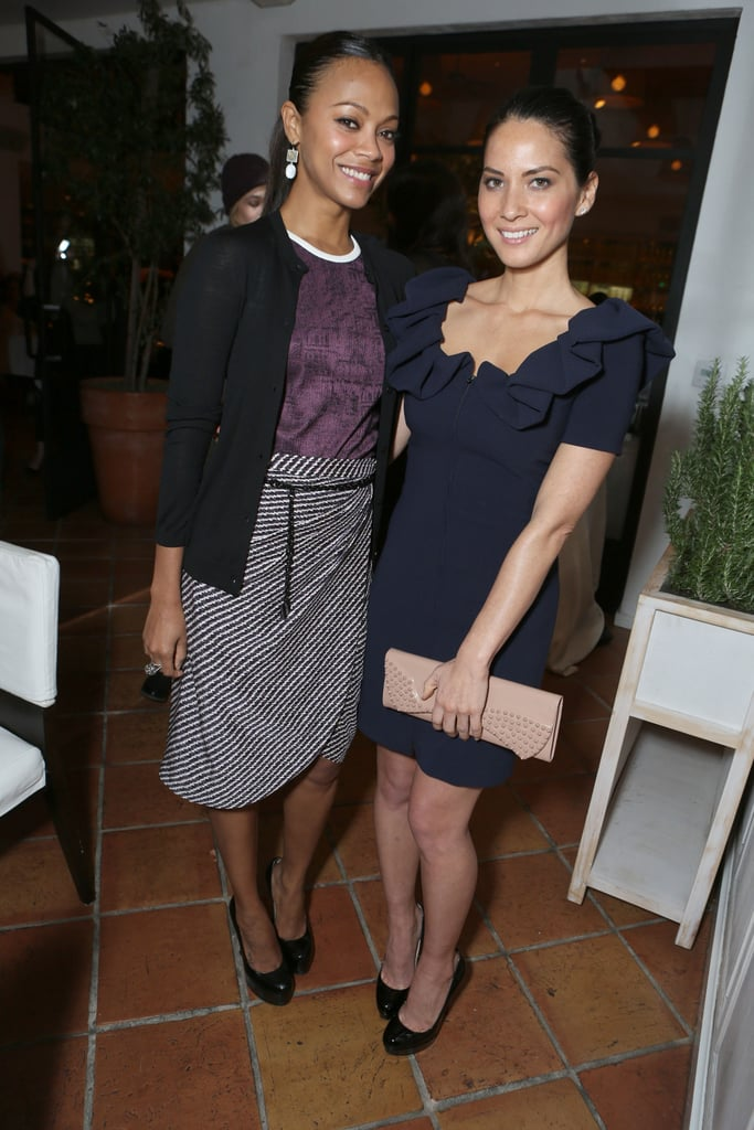 Zoe Saldana and Olivia Munn posed for photos in LA.