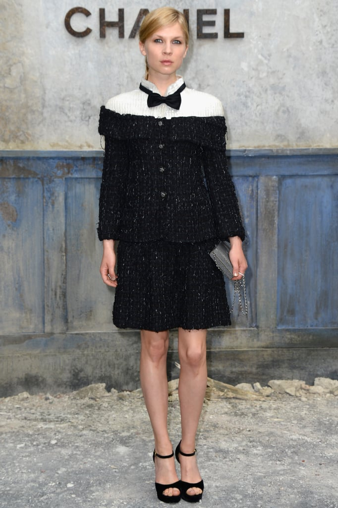 Clémence Poésy attended the Chanel show on Tuesday.