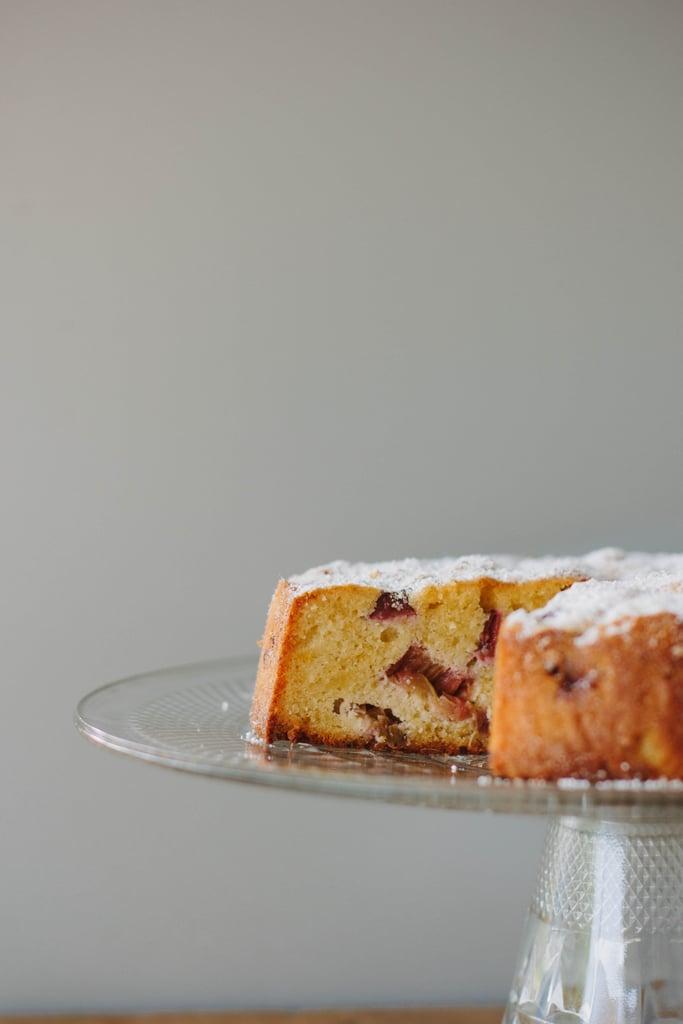 Flourless Rhubarb and Lemon Cake