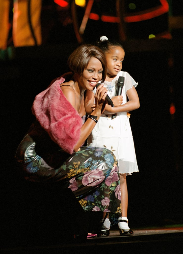 Whitney brought her daughter Bobbi Kristina Brown onstage during a  1999 concert in NYC.