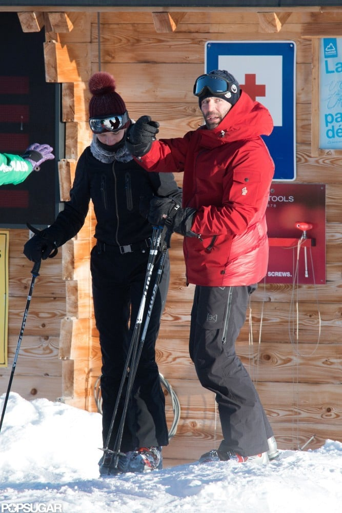 Jason Statham and Rosie Huntington-Whiteley spent time skiing in the French Alps.