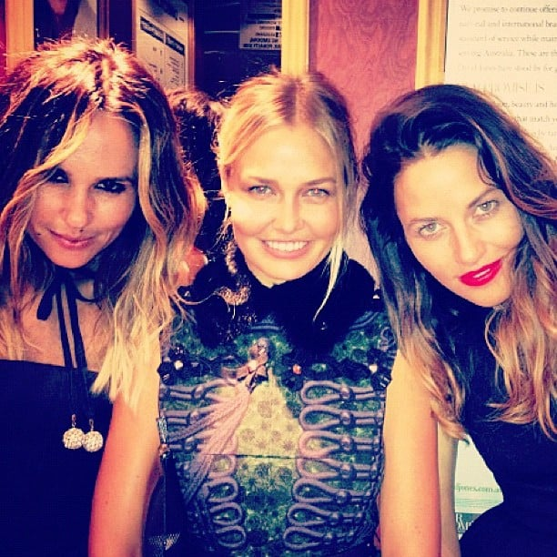 Pip Edwards, Lara Bingle and Kym Ellery were a stylish trio at an SK-II event on Thursday night. Source: Instagram user mslbingle