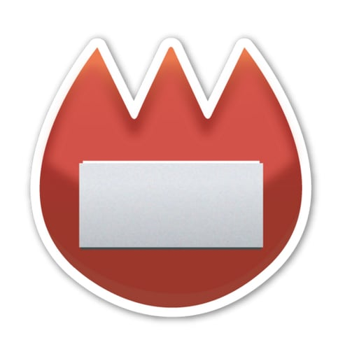"""Interpretation: """"I miss the Super Mario World fire flower."""" Name + meaning: Name Badge. Used to identify oneself in a location where others may not know your name. Also known as: Name tag emoji; fire tag emoji"""