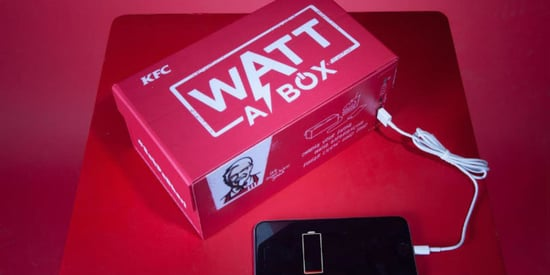 KFC's New 'Watt A Box' Will Charge Your Phone Battery While You Eat