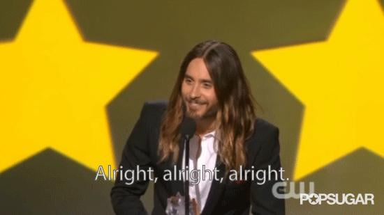 Jared Leto Does a Matthew McConaughey Impression During His Critics' Choice Acceptance