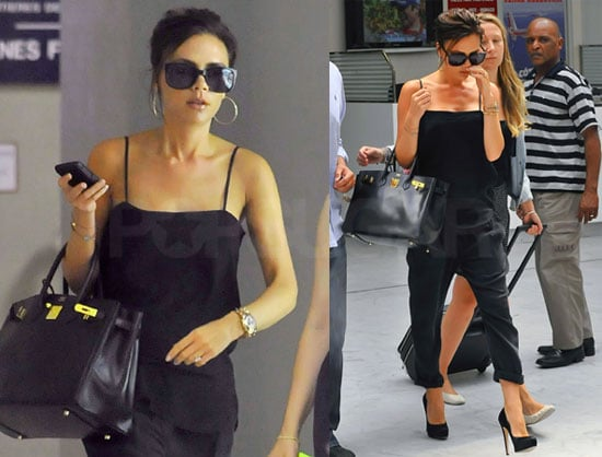 Pictures of Victoria Beckham Arriving at Nice Airport