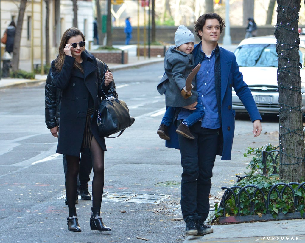 Miranda Kerr and Orlando Bloom linked up for a family outing with their son, Flynn, in NYC.