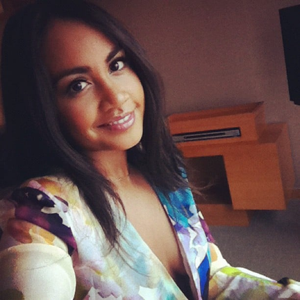 Jessica Mauboy took a quick break from media commitments in Seoul and revealed she'll be in Korea for Australia Day. Source: Instagram user jessicamauboy1