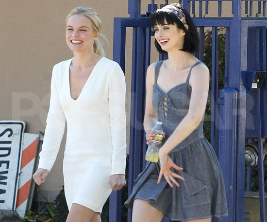 Slide Picture of Kate Bosworth and Krysten Ritter Filming