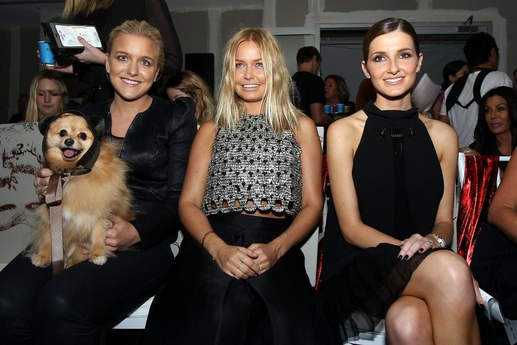 Hermione Underwood, Lara Bingle and Kate Waterhouse at Ellery