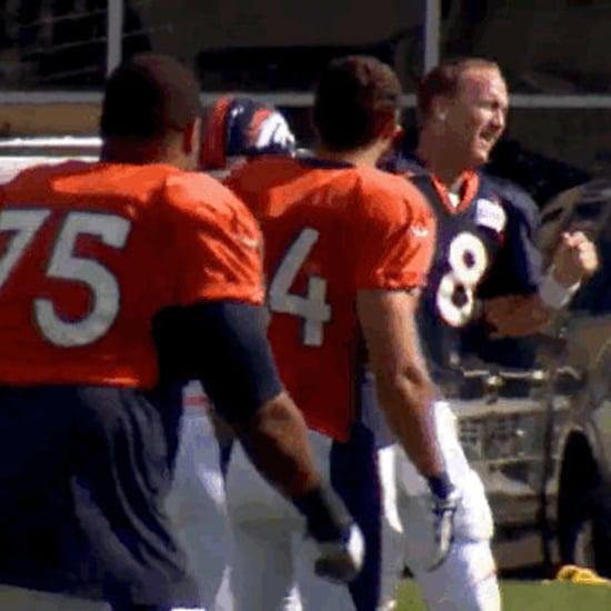 Peyton Manning Dances at Training Camp   Video