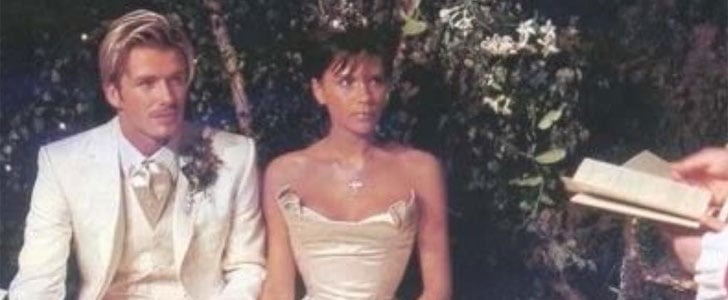 These Throwback Pictures of Victoria Beckham's Wedding Gown Will Melt Your Heart
