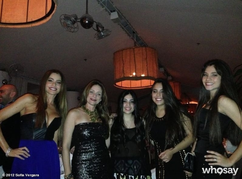 Sofia Vergara met up with friends for the big night.  Source: Sofia Vergara on WhoSay