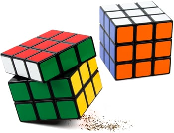 Rubik's Cube Salt and Pepper Shakers From Fred Flare