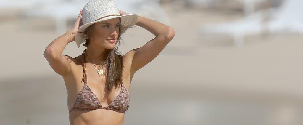 Alessandra Ambrosio Hits the Beach Before the Big Victoria's Secret Fashion Show