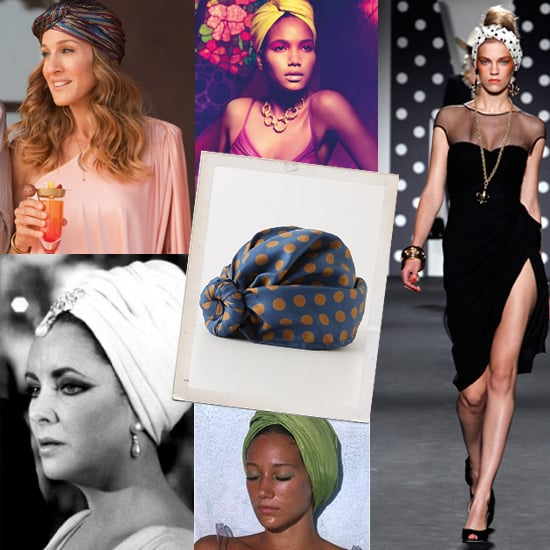 Head Accessories and Hats: The Turban, as seen in Sex and the City 2, Moschino Runways and Anthropologie