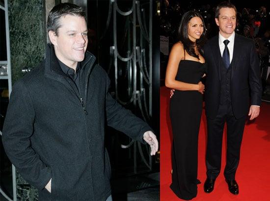 Photos of Matt Damon And Luciana Damon Promoting Invictus in London