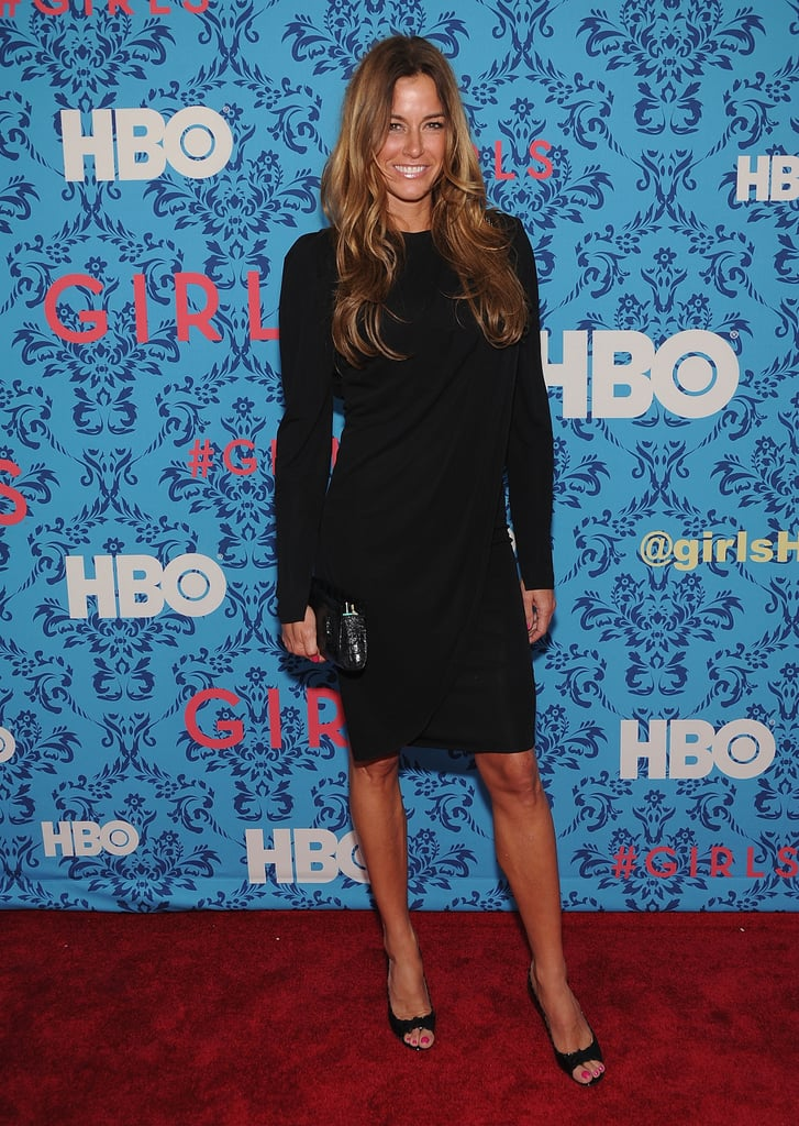 Kelly Bensimon wore all black to HBO's Girls premiere in NYC.