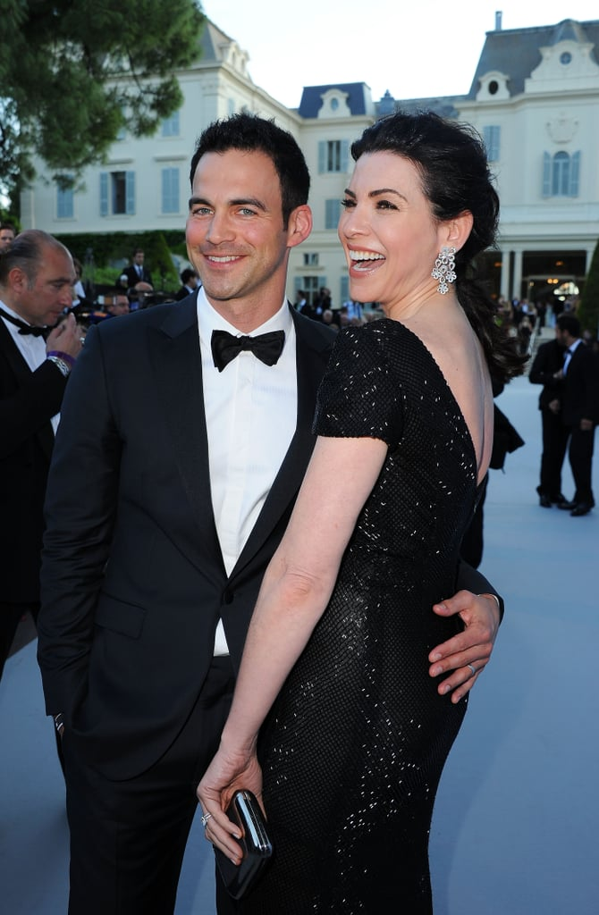 Julianna Margulies posed with her husband at the amfAR Cinema Against AIDS gala.