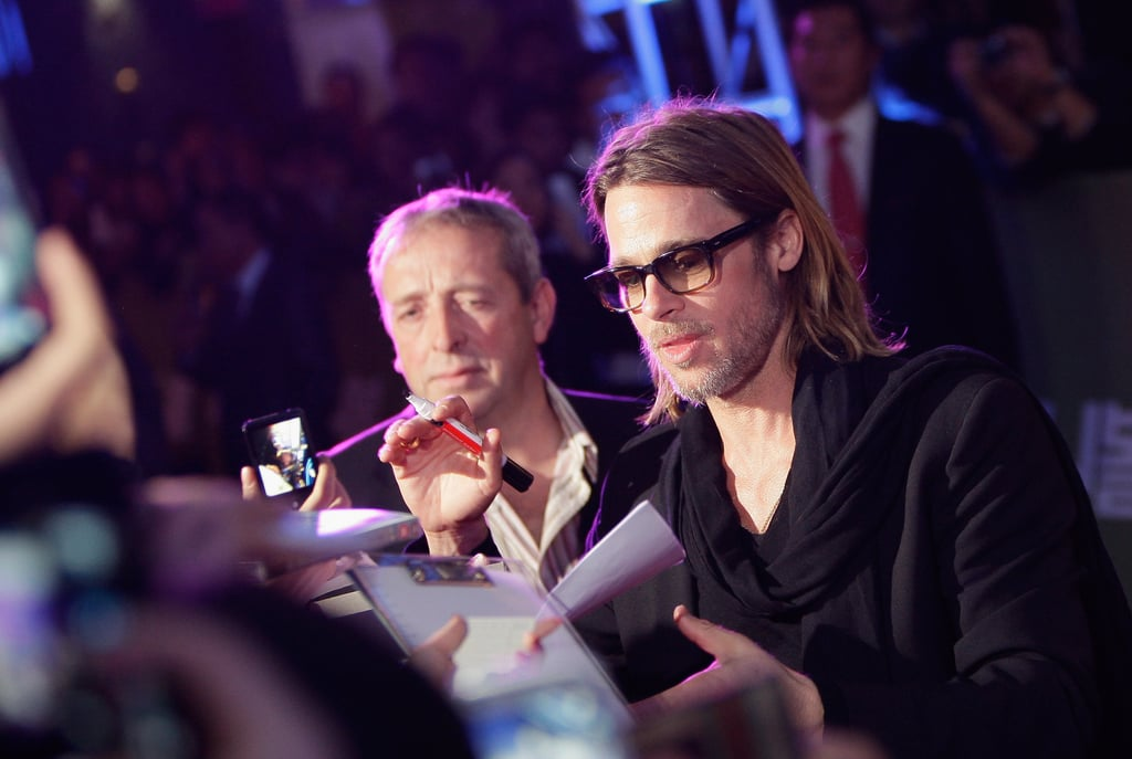 Brad Pitt's trip to Seoul came after a recent debut of the movie in Tokyo.