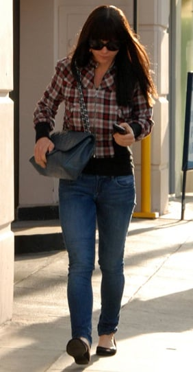 Christina Ricci in Plaid Jacket and Sunglasses in Los Angeles, California