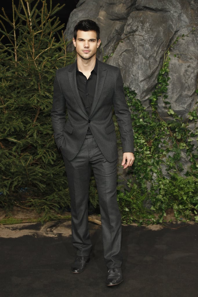 Taylor Lautner at the Breaking Dawn Part 1 premiere in Germany.