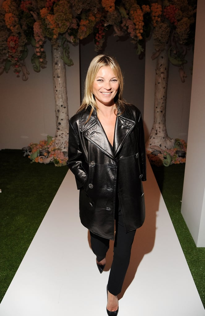 Kate Moss arrived at the Mulberry Spring Summer 2013 Show during London Fashion Week.
