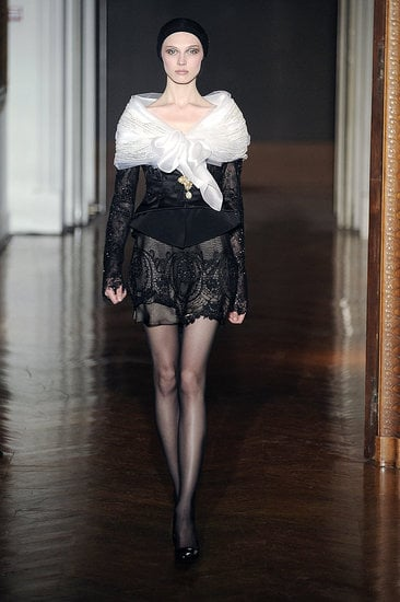 Fall 2009 Couture Trend Report: Black & White Transparency