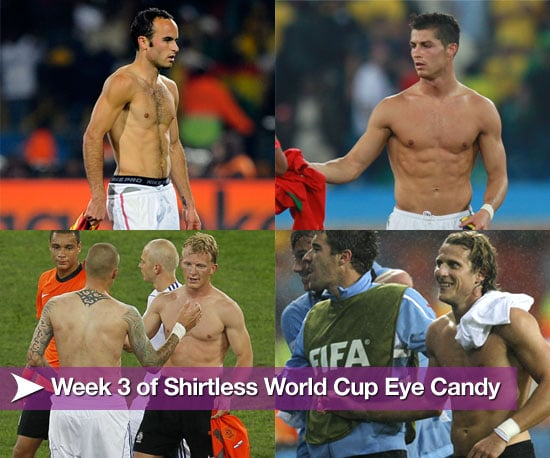Pictures of Shirtless Football Players From Week Three of the World Cup