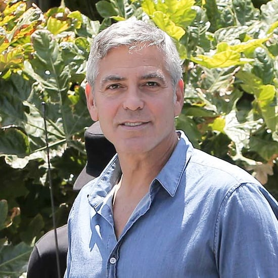 George Clooney With Rande Gerber at Cafe Habana