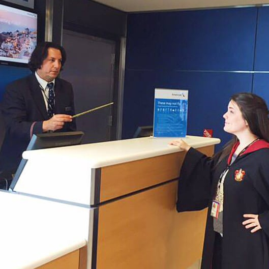 American Airlines Gate Agent Who Looks Like Severus Snape