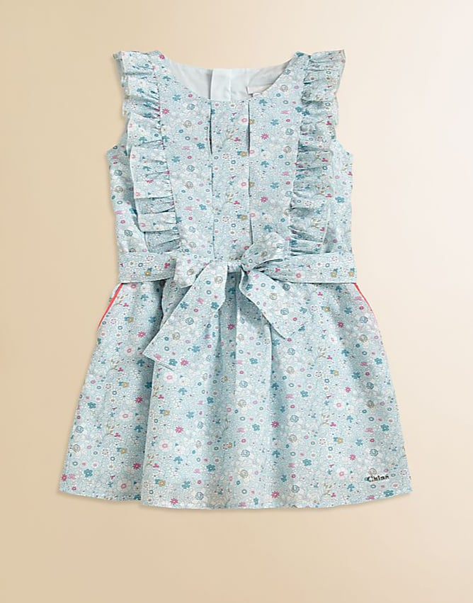 Does this come in our size? Your littlest fashionista will surely take to this Chloé sundress ($230) complete with a bow-tied sash.