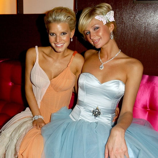 Jessica Simpson and Paris Hilton chatted at the InStyle party.